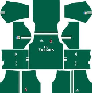 A.C Milan Goalkeeper Home Kit