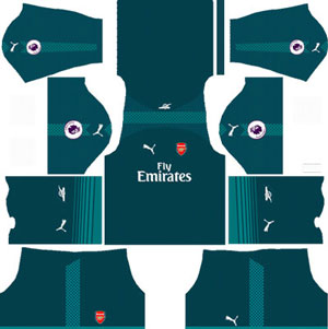 Arsenal Goalkeeper Home Kit