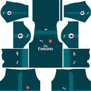 Arsenal Goalkeeper Home Kit