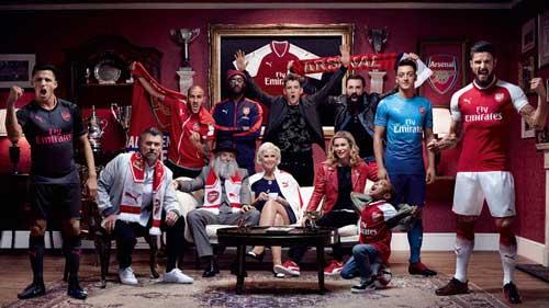 Arsenal Home Away And Third Kits 17-18