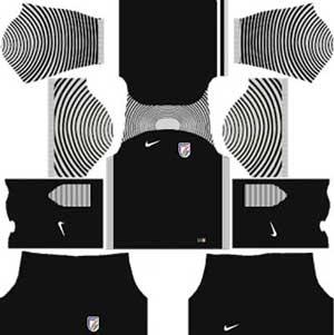 India Team Goalkeeper Kit & Dream League Soccer India kits and logo URL Free Download