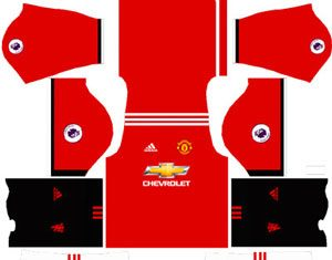 Manchester United Team Home Kit