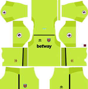 West Ham United Goalkeeper Home Kit