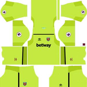 West Ham United Goalkeeper Home Kit